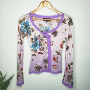 Till the End Silk/Cashmere Beaded Cardigan Sweater